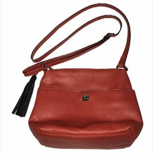 ROOTS 73 Small Red Crossbody Bag